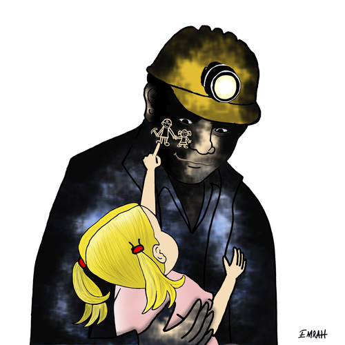 Coal Cartoon Drawing Cartoon Died Miners in Turkey