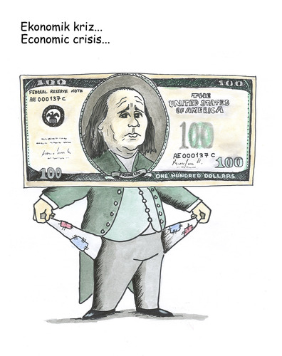 Cartoon: economic crisis (medium) by emraharikan tagged economic,crisis