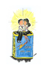 Cartoon: energy of love (small) by emraharikan tagged love