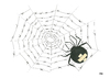 Cartoon: spider (small) by emraharikan tagged spider