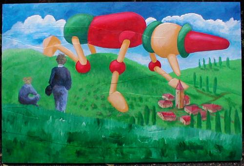 Cartoon: pinocchio gigante (medium) by daPinsli tagged painting,