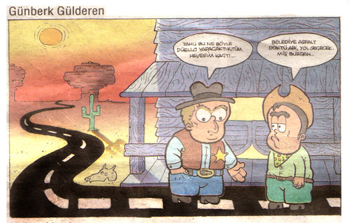 Cartoon: vahsi bati (medium) by gunberk tagged cowboy