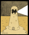 Cartoon: ighthouse of reality (small) by gunberk tagged reality,sea,lighthouse