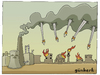 Cartoon: Nuclear energy and war (small) by gunberk tagged nuclear,war