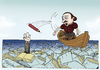 Cartoon: Ocean of literature (small) by gunberk tagged shakespeare,books,pen,sea,ocean,poem,author