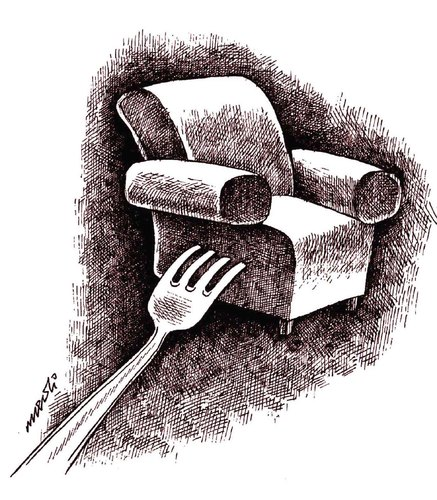 Cartoon: chunks of the position (medium) by Medi Belortaja tagged position,chair,power,chunks,politics