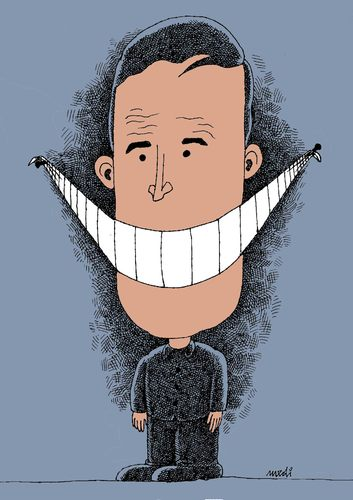 Cartoon: freedom of laughter (medium) by Medi Belortaja tagged smile,speech,freedom,smiley,smiling,teeth,laughter,democracy,dictatorship