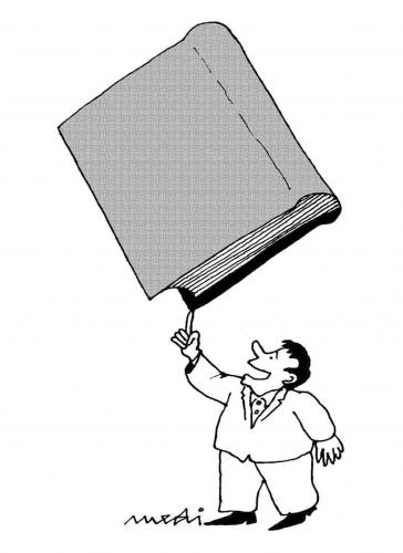 Cartoon: Joy of literature (medium) by Medi Belortaja tagged balance,book,literature