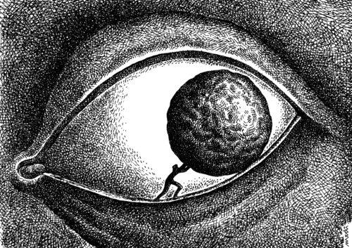 sisyphus By Medi Belortaja | Philosophy Cartoon | TOONPOOL