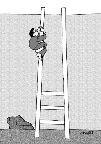 Climbing Stairs By Medi Belortaja Philosophy Cartoon Toonpool