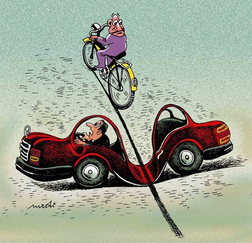 Strong Bike By Medi Belortaja Philosophy Cartoon Toonpool