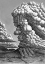 Cartoon: clouds thinking (small) by Medi Belortaja tagged clouds,thinking,nature,thinker,think,thought,punch,face,heavens,sky,skies