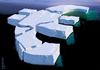 Cartoon: cracked iceberg (small) by Medi Belortaja tagged cracked,iceberg,euro,europe,financial,crisis