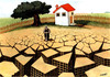 Cartoon: good morning! (small) by Medi Belortaja tagged environment,cracked,land,farmer,buildings,city,job,global,warming,water