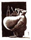 Cartoon: insabiatility (small) by Medi Belortaja tagged insabilitiaty,eating,obesity,obese,belly,food,drinking,eat,macho,table