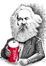 Cartoon: Marx drinking coke (small) by Medi Belortaja tagged karl,marx,marxism,communism,coke,consumption,drink,drinking,coca,cola,capitalism