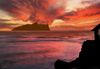 Cartoon: mountain and clouds (small) by Medi Belortaja tagged island,heavens,sunset,mountain,clouds,kiss,kissing,love,lovers,loved,valentines,day