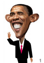 Cartoon: Obama (small) by Medi Belortaja tagged barack,obama