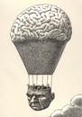 Cartoon: philosophical balloon (small) by Medi Belortaja tagged philosophical philisophy balloon head people think thinker intelligence