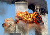 Cartoon: pieta (small) by Medi Belortaja tagged pieta fire twin twins towers terror terrorism