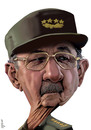 Cartoon: raul castro (small) by Medi Belortaja tagged raul,castro,president,cuba