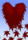Cartoon: red leaves (small) by Medi Belortaja tagged red,leaves,leaf,heart,autumn,love