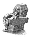 Cartoon: sad chair (small) by Medi Belortaja tagged sad,sadness,chair,armchair,coffin,power,dictator,dictators,murder,death,democracy,violence
