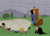 Cartoon: sheep and shepherd (small) by Medi Belortaja tagged sheep,fold,shepherd,leader,head,chief,people,peoples