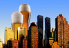 Cartoon: skyscrapers (small) by Medi Belortaja tagged beer,cup,cups,skyscrapers,alcohol