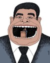 Cartoon: speech (small) by Medi Belortaja tagged speech,mouth,tutelage,politics,politicians,manipulation