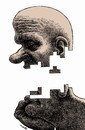 Cartoon: thinker (small) by Medi Belortaja tagged think,thinker,thought,face,tetris,game,build,creativity,idea