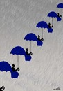 Cartoon: umbrellas hierarchy (small) by Medi Belortaja tagged umbrella,umbrellas,rain,raining,city,town,people,hierarchy,chair,chairs,democracy