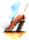 Cartoon: tower of Piza (small) by Medi Belortaja tagged tower,piza,woman,shoe