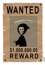 Cartoon: WANTED (small) by Medi Belortaja tagged wanted,death,reward,killer,murder