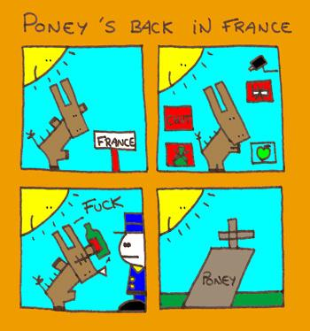 Cartoon: Poney (medium) by LudovicPedrocchi tagged france,poney,humour,