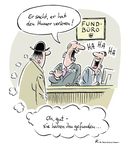 Cartoon: Fundbüro (medium) by Riemann tagged fundbuero,humor,verloren,cartoon,george,riemann,fundbuero,humor,verloren,cartoon,george,riemann
