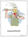 Cartoon: Eigenhumor (small) by Riemann tagged eigenurin,therapie,alternative,medizin,humor,holzhammer,cartoon,george,riemann