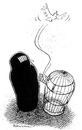 Cartoon: Freedom (small) by Riemann tagged burka,cage,freedom,women,käfig,freiheit,gefängnis,frau