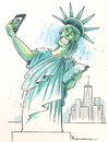 Cartoon: Statue of Vanity (small) by Riemann tagged statue,of,liberty,selfie,vanity,ego,digital,new,york,smart,phone,society,fashion,narcism,gesellschaft,narzissmus,internet,mode,spassgesellschaft,cartoon,george,riemann