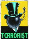 Cartoon: Terrorist (small) by Riemann tagged greed,banks,banker,vorstand,investors,money,corruption,capitalism,corporation,manager