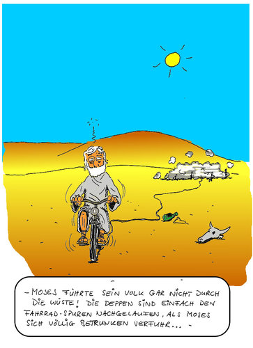 Cartoon: Wahrheiten der Bibel1 (medium) by SHolter tagged moses