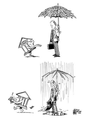 Rainy Day Funds By Halltoons Politics Cartoon Toonpool