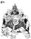 Cartoon: Culpable Pope (small) by halltoons tagged pope,benedict,scandal,priests