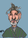 Cartoon: Hamid the Jester (small) by halltoons tagged karzai,hamid,afghanistan