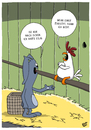 Cartoon: Kann nicht (small) by luftzone tagged thomas,luft,cartoon,lustig,ostern,hase,bunny,ei,eierlegen,hühnerstall