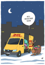 Cartoon: Neumodischer Kram (small) by luftzone tagged cartoon,humor,thomas,luft,lustig,dhl,pakete,geschenke,elch,weihnachten