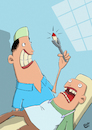 Cartoon: Zahn (small) by luftzone tagged thomas,luft,cartoon,lustig,zahn,zahnarzt,zange,arzt,patient,angst,schmerzen,blut,dental,tooth,dentist,blood,pain