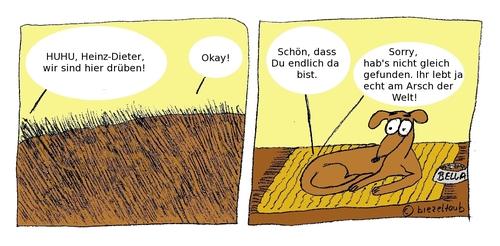 Am Arsch der Welt By brezeltaub | Nature Cartoon | TOONPOOL