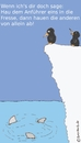 Cartoon: Manni riskierts (small) by brezeltaub tagged pinguin,haie,fresse,mut