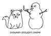 Cartoon: One Cats Thoughts (small) by DebsLeigh tagged cat kitty feline thoughts pet animal snowman snowmen